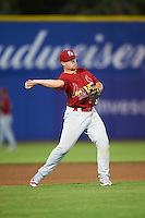 Palm Beach Cardinals third baseman Allen Staton (33) during a game against the Dunedin Blue Jays on April 15, 2016 at Florida Auto Exchange Stadium in Dunedin, Florida.  Dunedin defeated Palm Beach 8-7.  (Mike Janes/Four Seam Images)