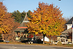Fall in the village of New Boston, New Hampshire.