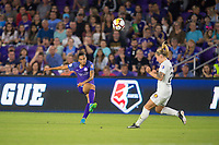 Orlando, FL - Saturday March 24, 2018: Orlando Pride defender Poliana Barbosa Medeiros (19) during a regular season National Women's Soccer League (NWSL) match between the Orlando Pride and the Utah Royals FC at Orlando City Stadium. The game ended in a 1-1 draw.