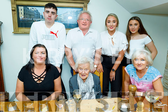 The Collins family from Tralee in Bella Bia celebrating Catriona Collins graduation on Thursday<br /> Seated l to r: Niamh, Mary and Mary Collins.<br /> Back l to r: Sean, John, Niamh and Catriona Collins.