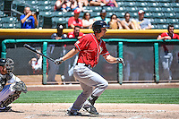 Alex Dickerson (30) of the El Paso Chihuahuas at bat against the Salt Lake Bees in Pacific Coast League action at Smith's Ballpark on July 26, 2015 in Salt Lake City, Utah. El Paso defeated Salt Lake 6-3 in 10 innings. (Stephen Smith/Four Seam Images)
