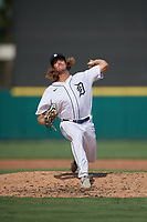 Detroit Tigers pitcher Max Green (65) during a Florida Instructional League game against the Pittsburgh Pirates on October 16, 2020 at Joker Marchant Stadium in Lakeland, Florida.  (Mike Janes/Four Seam Images)
