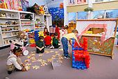 MR / Schenectady, New York.Yates Arts Magnet School / Pre-Kindergarten.[Universal pre-kindergarten Program] Free play time for students aged 4-5 includes African-American, Hispanic, and Caucasian children..MR: YS-9-PK.PN#:26296                                              FC#:24544-00212.scan from slide.© Ellen B. Senisi