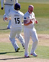 Darren Stevens of Kent celebrates taking the wicket of Steven Croft during Kent CCC vs Lancashire CCC, LV Insurance County Championship Group 3 Cricket at The Spitfire Ground on 22nd April 2021