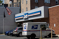 NORTH BERGEN, NJ - AUGUST 17: General view of United States Postal Service office on August 17, 2020 in North Bergen New Jersey. Mail Delays Fuel Concern Trump Is Undercutting Postal System before elections , Mail-in voting across the country has led to a series of anomalous results in recent weeks (Photo by Kena Betancur/ VIEWpress via Getty Images)