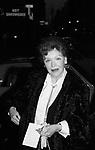 Maureen O'Sullivan on January 6, 1979 at Luchow's Restaurantin New York City.