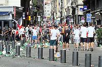 11 juin 2016 incident sur le vieux port Marseille entre les forces de l ordre et les supporters anglais