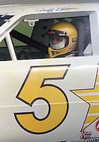 Geoff Bodine helmet in car Pepsi 400 at Daytona International Speedway in Daytona beach, FL on July 1, 1989. (Photo by Brian Cleary/www.bcpix.com)