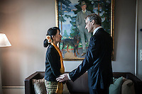 NOBEL PEACE PRIZE: AUNG SAN SUU KYI (2012)