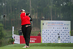 Nur Durriyah Damian of Malaysia tees off at tee one during the 9th Faldo Series Asia Grand Final 2014 golf tournament on March 18, 2015 at Mission Hills Golf Club in Shenzhen, China. Photo by Xaume Olleros / Power Sport Images