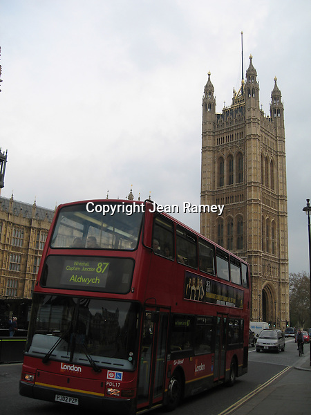 Double-decker bus and Parliament