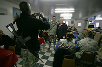 VP Cheney: breakfast with the troops at Bagram after spending the night at the base because of a bad weather call and post-ponement of meeting with Karzai.