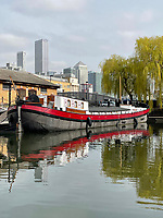 BNPS.co.uk (01202) 558833. <br /> Pic: Zeewarriors/BNPS<br /> <br /> Pictured: The MV Johanna Elisabeth. <br /> <br /> A 100-year old Dutch sailing barge moored in Bermondsey has gone on sale for £278,000.<br /> <br /> The 25-metre MV Johanna Elisabeth was originally constructed in 1913 at Appelo, Zwartsluis in Holland, and was brought to the UK in 2003 by a previous owner.<br /> <br /> Her work as a sailing barge included shipping freight but she is now moored at the South Dock Marina in Bermondsey, south London, and used as a home.
