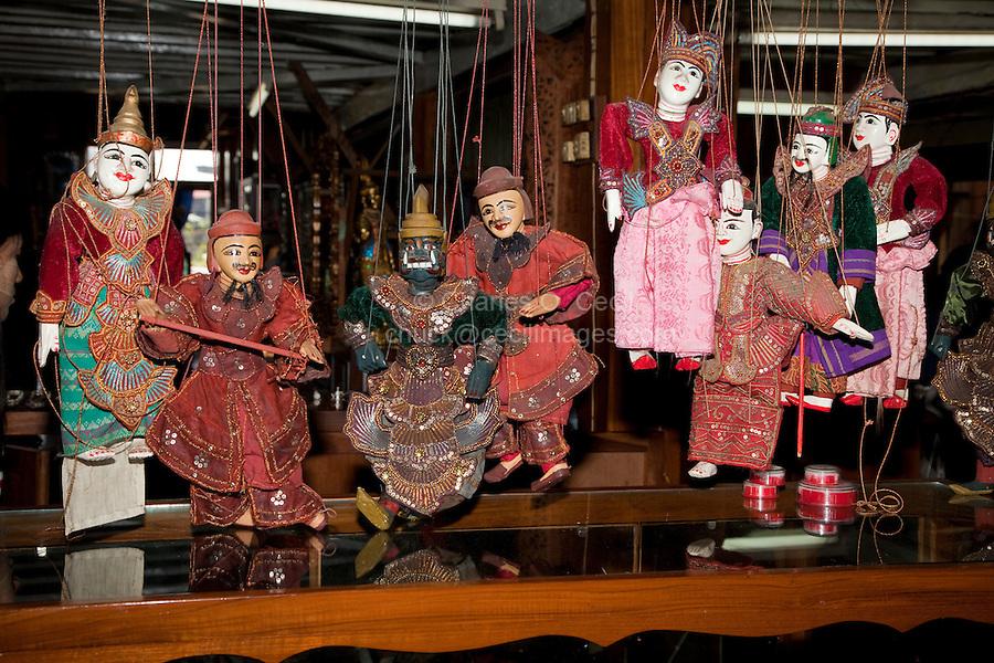 Myanmar, Burma. Burmese Marionettes, Inle Lake, Shan State.