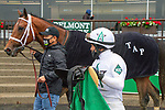 MAY 29, 2021 : Sainthood with Joel Rosario aboard, holds off a determined The Reds, to win the Gr.2  Pennine Ridge Stakes, at 1 1/8 mile for 3 year olds, taken off the turf, at Belmont Park, Elmont, NY. Sue Kawczynski-Eclipse Sportswire-CSM