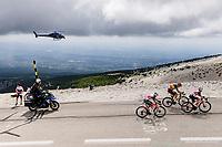 part of the early breakaway group with among others Belgian National Champion Wout van Aert (BEL/Jumbo-Visma) and Julien Bernard (FRA/Trek-Segafredo) and Kenny Elissonde (FRA/Trek-Segafredo) up the famed Mont Ventoux<br /> <br /> Stage 11 from Sorgues to Malaucène (198.9km)<br /> 108th Tour de France 2021 (2.UWT)<br /> <br /> ©kramon