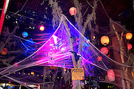 The Hiro Ballroom at The Maritime Hotel in Chelsea decorated for a Halloween party.