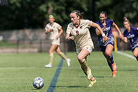 NEWTON, MA - SEPTEMBER 12: Sam Smith #9 of Boston College on the attack during a game between Holy Cross and Boston College at Newton Campus Soccer Field on September 12, 2021 in Newton, Massachusetts.