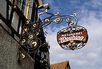 Bad Wimpfen: Decorative hanging signage.