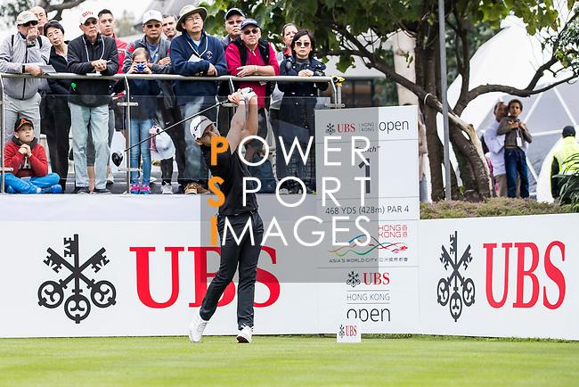 Joakim Lagergren of Sweden tees off during the day three of UBS Hong Kong Open 2017 at the Hong Kong Golf Club on 25 November 2017, in Hong Kong, Hong Kong. Photo by Yu Chun Christopher Wong / Power Sport Images