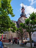 St. Jakobus in Rüdesheim, Hessen, Deutschland, Europa, UNESCO Weltkulturerbe<br /> St. Jakobus in Rüdesheim, Hesse, Germany, Europe