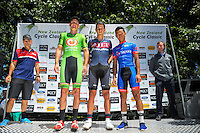 Podium after stage three of the NZ Cycle Classic UCI Oceania Tour in Wairarapa, New Zealand on Tuesday, 24 January 2017. Photo: Dave Lintott / lintottphoto.co.nz