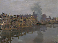 Claude Monet - The Bridge under Repair (1871-1872). Cambridge, Fitzwilliam Museum.