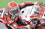 Noriyuki Haga of Japan competing in 2008 Superbike World Championship (Italian round, Vallelunga) on a Yamaha R1.