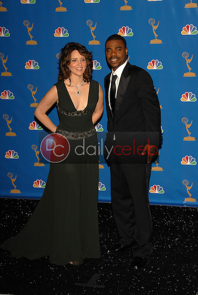 Tina Fey and Tracy Morgan<br />in the Press Room at the 58th Annual Primetime Emmy Awards. The Shrine Auditorium, Los Angeles, CA. 08-27-06<br />Scott Kirkland/DailyCeleb.com 818-249-4998