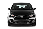 Car photography straight front view of a 2016 Hyundai ix20 Joy 5 Door Mini MPV Front View