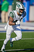 New York Jets Trenton Cannon (40) during warmups before an NFL football game against the Buffalo Bills, Sunday, December 9, 2018, in Orchard Park, N.Y.  (Mike Janes Photography)