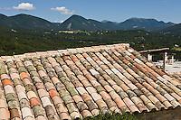 Europe/France/Rhône-Alpes/26/Drôme/Le Poët-Laval: Ancienne commanderie de l'ordre de Malte - les toits du village