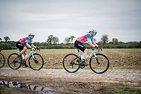 Marjolein Van 't Geloof (NED/Drops - Le Col)<br /> <br /> Inaugural Paris-Roubaix Femmes 2021 (1.WWT)<br /> One day race from Denain to Roubaix (FRA)(116.4km)<br /> <br /> ©kramon