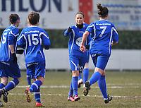AA Gent Ladies - Lommel : vreugde bij Gent en Jassina Blom (10)<br /> foto DAVID CATRY / Nikonpro.be