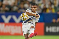 CARSON, CA - SEPTEMBER 15: Diego Polenta #3 of the Los Angeles Galaxy crosses a ball during a game between Sporting Kansas City and Los Angeles Galaxy at Dignity Health Sports Park on September 15, 2019 in Carson, California.