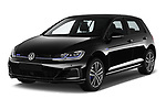 2018 Volkswagen Golf GTE Base 5 Door Hatchback angular front stock photos of front three quarter view