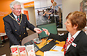 Falkirk's Deputy Provost, Councillor John Patrick gets an appointment for a hearing test from Sandra Cameron at Amplifon's new Falkirk branch.<br /> <br /> <br /> 29/06/2016    006_amplifon  <br /> Copyright  Pic : James Stewart   <br /> James Stewart Photography, 19 Carronlea Drive, Falkirk. FK2 8DN  <br /> Vat Reg No. 607 6932 25  <br /> Mobile : +44 (0)7721 416997  <br /> E-mail  :  jim@jspa.co.uk  <br /> If you require further information then contact Jim Stewart on any of the numbers above ...
