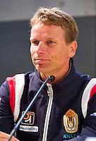 12-09-12, Netherlands, Amsterdam, Tennis, Daviscup Netherlands-Swiss, Press-conference Netherlands, captain Jan Siemerink.
