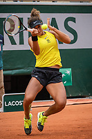 29th September 2020, Roland Garros, Paris, France; French Open tennis, Roland Garros 2020;  Mayar SHERIF EGY plays a forehand during her match against Karolina PLISKOVA CZE in the Philippe Chatrier court on the first round of the French Open