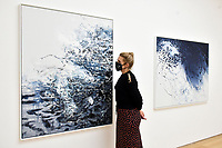 London, UK - 14 October 2020<br /> (L) Polar bear, 2019 and (R) Arctic, 2019 at Maggi Hambling's new exhibition at Marlborough Gallery, where she has a solo exhibition to coinciding with her 75th birthday, featuring recent paintings responding to the seismic events of the present, works include a new series of self-portraits created in lockdown, a series depicting wild animals facing threat and intimate portraits of people laughing.<br /> CAP/JOR<br /> ©JOR/Capital Pictures