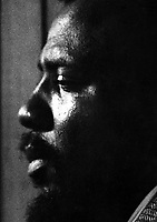 """Thelonious Monk recording for RiverSide Records, NYC, c. 1957. This photograph is the cover image of the 1959 Riverside LP """"THELONIOUS MONK - 5 BY MONK BY 5"""""""