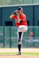 Pitcher Greg Ross (19) of the Atlanta Braves farm system in a Minor League Spring Training intrasquad game on Wednesday, March 18, 2015, at the ESPN Wide World of Sports Complex in Lake Buena Vista, Florida. (Tom Priddy/Four Seam Images)