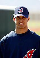 Delvi Cid -  Cleveland Indians - 2009 spring training.Photo by:  Bill Mitchell/Four Seam Images