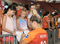 Houston, TX - Friday August 02, 2019: NWSL regular season match between the Houston Dash and Reign FC at BBVA Stadium.