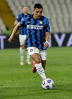 Alexis Sanchez of INTER  during the  italian serie a soccer match,Spezia Inter Milan at  the STadio Picco in La Spezia Italy ,