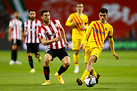 17th April 2021; Olmpico de La Cartuja stadium, Seville, Spain; Copa del Rey Football final, Athletic Bilbao versus FC Barcelona;  Pedro Gonzalez Pedri of FC Barcelona and Oscar De Marcof Athletic Club