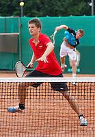 2013-08-17, Netherlands, Raalte,  TV Ramele, Tennis, NRTK 2013, National Ranking Tennis Champ,  Sander Arends(L) and Jannick Lupescu<br /> <br /> Photo: Henk Koster