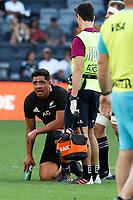 14th November 2020, Sydney, Australia;  Anton Lienert-Brown is injured. Tri Nations rugby union test match,  New Zealand All Blacks versus Argentina Pumas. Bankwest Stadium, Sydney, Australia.