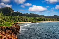 Coastline with cottage. Kauai, Hawaii
