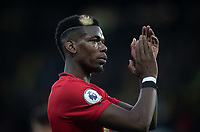 Paul Pogba of Man Utd during the Premier League match between Watford and Manchester United at Vicarage Road, Watford, England on 22 December 2019. Photo by Andy Rowland.